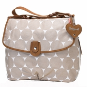 Babymel Satchel Diaper Bag - Fawn Jumbo Dot