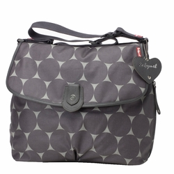 Babymel Satchel Diaper Bag - Grey Jumbo Dot