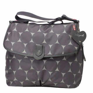TEMPORARILY OUT OF STOCK Babymel Satchel Diaper Bag - Grey Jumbo Dot