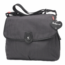 Babymel Satchel Diaper Bag - Grey Stripe