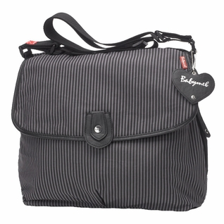 SOLD OUT Babymel Satchel Diaper Bag - Grey Stripe