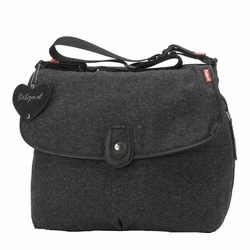 SOLD OUT Babymel Satchel Diaper Bag - Grey Tweed