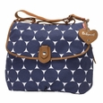 Babymel Satchel Diaper Bag - Navy Jumbo Dot