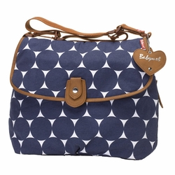 TEMPORARILY OUT OF STOCK Babymel Satchel Diaper Bag - Navy Jumbo Dot