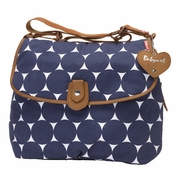 Babymel Satchel Diaper Bag - Navy Dot