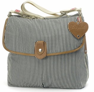 TEMPORARILY OUT OF STOCK Babymel Satchel Diaper Bag - Navy Stripe