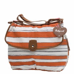 SOLD OUT Babymel Satchel Diaper Bag - Sunset Orange