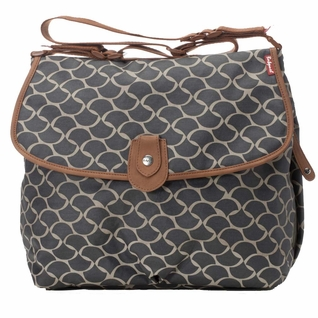 TEMPORARILY OUT OF STOCK Babymel Satchel Diaper Bag - Wave Elephant Grey