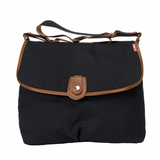 SOLD OUT  Babymel Satchel Diaper Bag - Waxy Black