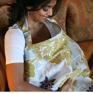 TEMPORARILY OUT OF STOCK Bebe au Lait  Cotton Nursing Cover - Ascot
