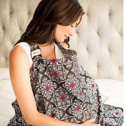 TEMPORARILY OU OF STOCK Bebe au Lait Cotton Nursing Cover - Amalfi
