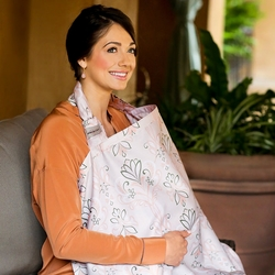 Bebe au Lait Cotton Nursing Cover - Flora