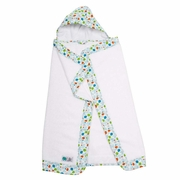 Bebe Au Lait Lille Hooded Towel - Blue Fishies