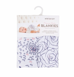 Bebe au Lait Muslin Blankies Set - Purple/Pink