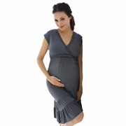 Belabumbum Before And After Ruffle Maternity Nursing Lounge Dress