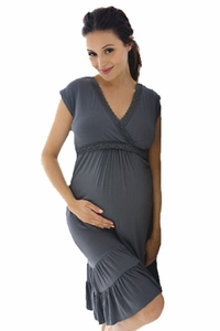 Belabumbum Before And After Ruffle Maternity and Nursing Dress