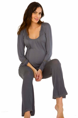 Belabumbum Colette Maternity And Nursing Poet Pajama Set