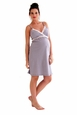 Belabumbum Dottie Lace Trim Maternity And Nursing Chemise Nightgown