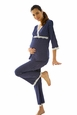 Belabumbum Dottie Lace Trim Maternity And Nursing Pajama Lounge Set