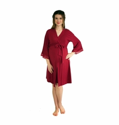 Belabumbum Eva Lace Trim Maternity Nursing Robe