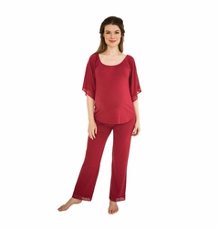 Belabumbum Eva Maternity Nursing Tunic And Pant Lounge Set