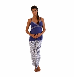 Belabumbum Ikat Maternity Nursing Pajama Pants And Cami Set