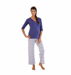 TEMPORARILY OUT OF STOCK Belabumbum Ikat Maternity Nursing Tunic And Pant Lounge Set