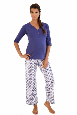 SOLD OUT Belabumbum Ikat Maternity Nursing Tunic And Pant Lounge Set