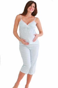 Belabumbum Lacey Maternity And Nursing Cropped Pajama Set