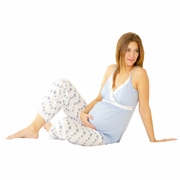 Belabumbum Morning Glory Maternity and Nursing Pajama Set