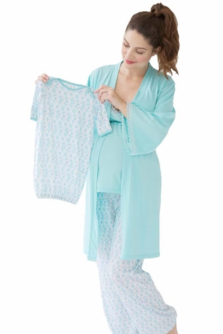 Belabumbum Ondine Mom and Baby Maternity Nursing Sleepwear Set