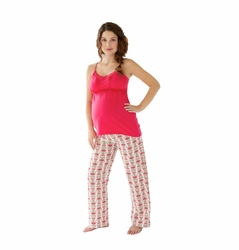 Belabumbum Padma Maternity Nursing Pajama Pants And Cami Set
