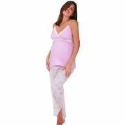 Belabumbum Pink Mum Maternity and Nursing Pajama Set