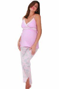SOLD OUT Belabumbum Pink Mum Maternity and Nursing Pajama Set