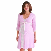 SOLD OUT Belabumbum Pink Mum Maternity And Nursing Robe
