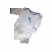 TEMPORARILY OUT OF STOCK Belabumbum Plume 2 Piece Baby Layette Set