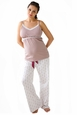 Belabumbum Queen Bee Maternity And Nursing Pajama Pants And Cami Set