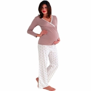 SOLD OUT Belabumbum Queen Bee Tunic/Pant Maternity And Nursing Pajama Set
