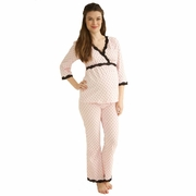 Belabumbum Queen Of Hearts Maternity Nursing Pajama Lounge Set