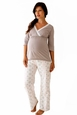 Belabumbum Starlit Maternity And Nursing Pajama Pants And Tunic Set