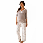 TEMPORARILY OUT OF STOCK Belabumbum Starlit Maternity And Nursing Pajama Pants And Tunic Set