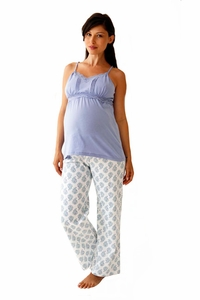 Belabumbum Violette Maternity And Nursing Pajama Pants And Cami Set