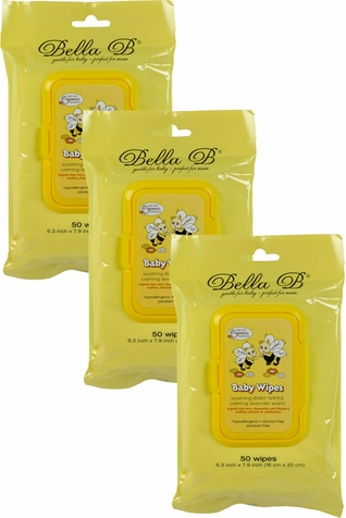 Bella B Soothing Baby Diaper Wipes - 3 Pack Bundle