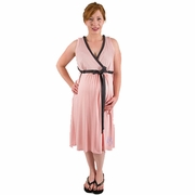 SOLD OUT BG & Co Birthing Hospital Gown Nursing Night Gown - Blush