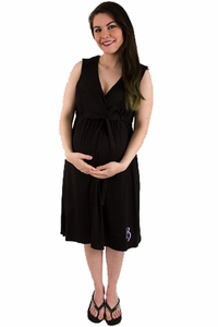 BG & Co Birthing Hospital Gown Nursing Night Gown - Nightie-Night Black