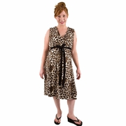 TEMPORARILY OUT OF STOCK BG & Co Birthing Hospital Gown Nursing Night Gown - Purrty Mama Leopard