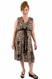 BG & Co Birthing Hospital Gown Nursing Night Gown - Purrty Mama Leopard