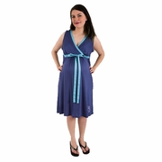 SOLD OUT BG & Co Birthing Hospital Gown Nursing Night Gown - Sea Breeze