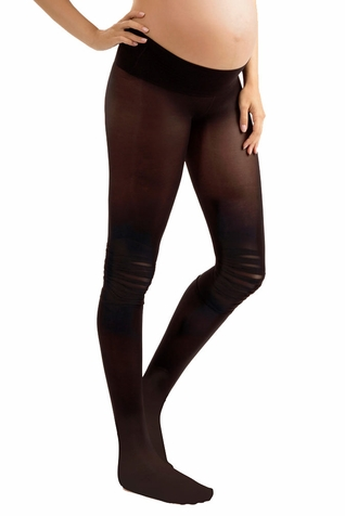 Blanqi Ruffle Moto Low Rise Belly Support Band Maternity Tights