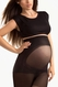 Blanqi Ultra Sheer Overbelly Support Band Maternity Fishnet Printed Pantyhose